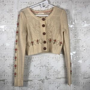 Anthropologie |Sleeping on Snow homespun Cardigan